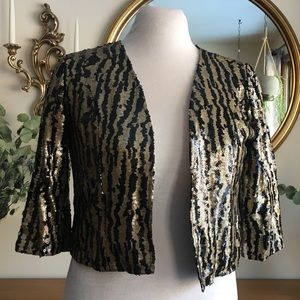 Anthropology Tulle Brand Sequin Print Jacket